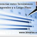 diferencias inversiones temporales y a largo plazo
