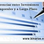 diferencias inversiones temporales y a largo plazo