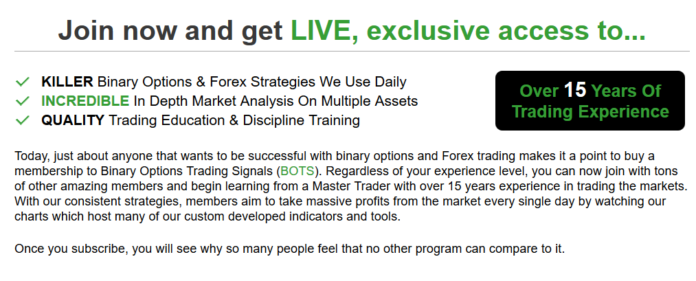Binary options trading signals login