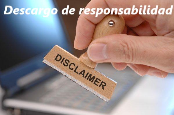 Descargo de responsabilidad